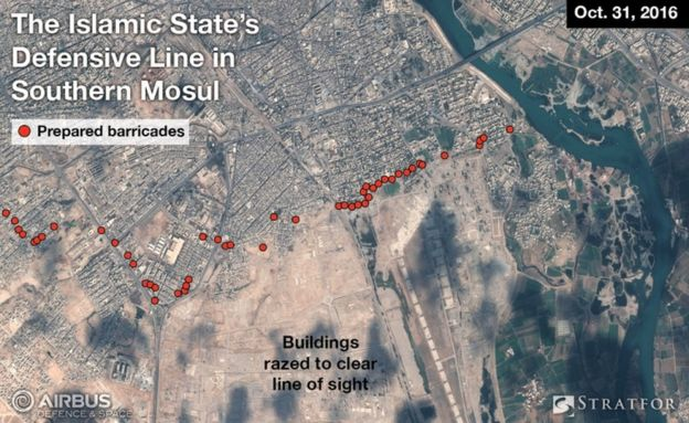 Satellite images of Mosul