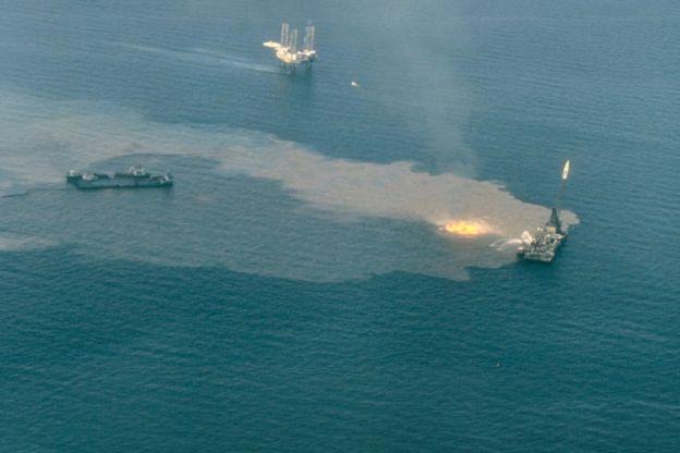 El derrame de la Deepwater Horizon ha causado enorme daño a los barcos hundidos en el golfo de México.