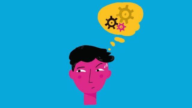 Ilustración de un niño pensando.