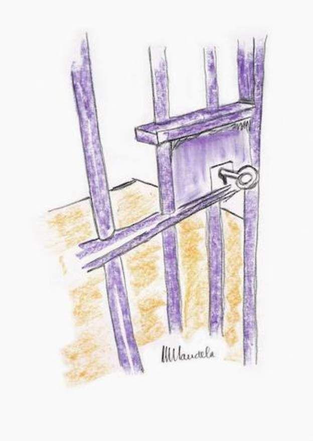 Le dessin The Cell Door réalisé par Nelson Mandela sera vendu aux enchères à New York par la maison Bonhams.