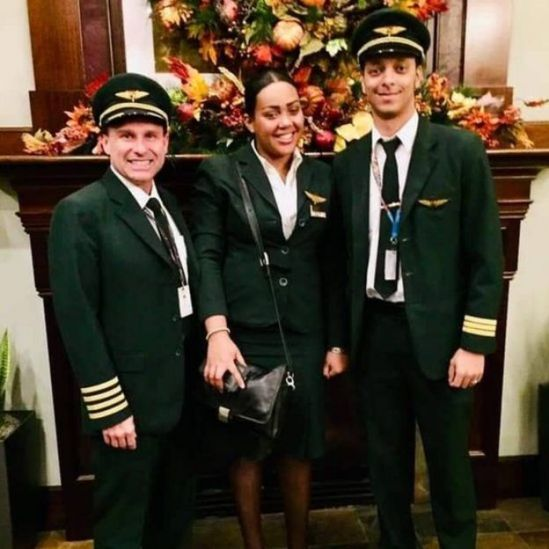 Captain Yared (right) with colleagues
