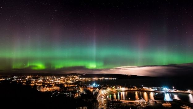 Brian Doyle captured the kaleidoscope of colours over Stonehaven in Aberdeenshire