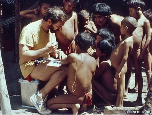 Kenneth Good with the Yanomami