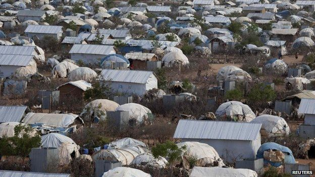 An aerial view shows an extension of the Ifo camp, one of the several refugee settlements in Dadaab, Kenya - October 2013