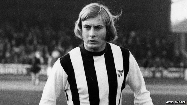 Asa Hartford, of West Bromwich Albion, on the pitch on 13 November 1971