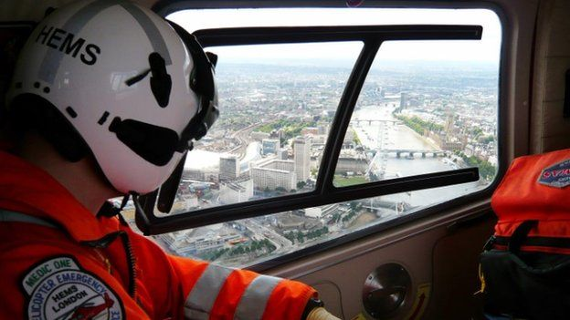 View of Thames from Air Ambulance