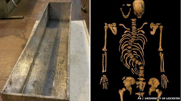 Richard III coffin and remains