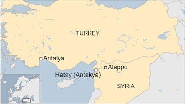 Map of Antakya Antalya
