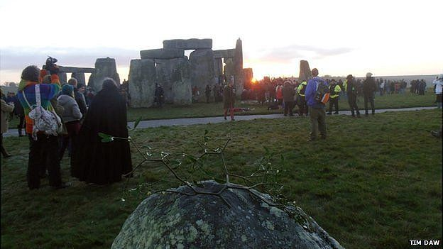 Midwinter sunrise at Stonehenge