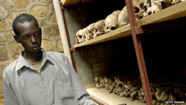 Skulls of Rwanda genocide victims