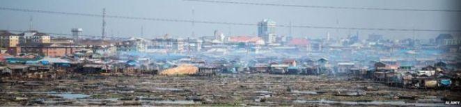 Makoko slum in Lagos, Nigeria