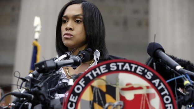 Marilyn Mosby delivers news of the charges