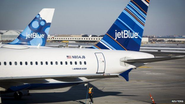 JetBlue planes in New York, file