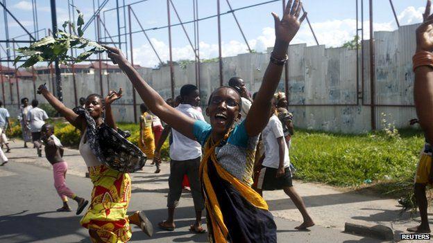 Protesters in Bujumbura, 13 May