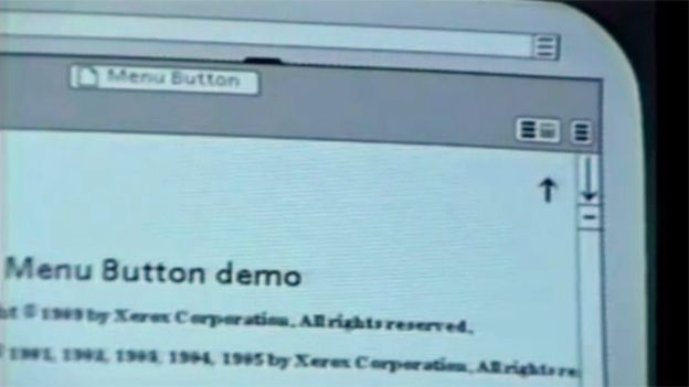 Xerox software user interface with the