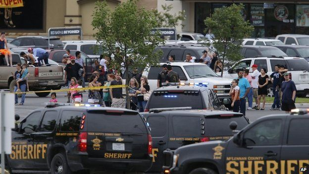 Scene near the shooting in Waco, Texas. 17 May 2015