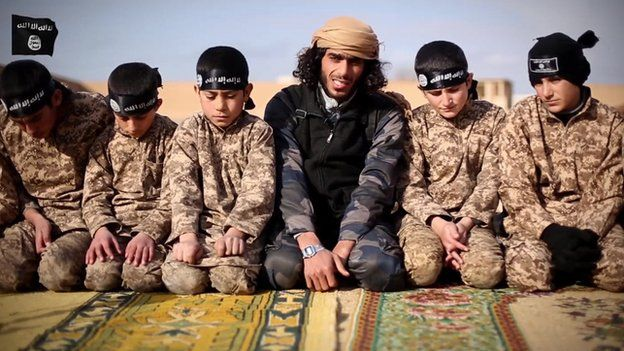 Islamic State propaganda video purportedly showing children being trained
