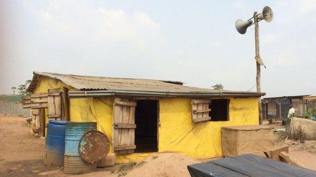 A mosque at Ogbere Trailer Park in Ogun state, Nigeria - February 2015