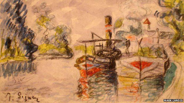 A Mark Landis copy of a watercolour by Paul Signac