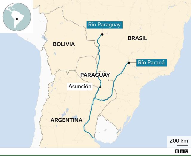 Mapa de los dos ríos.
