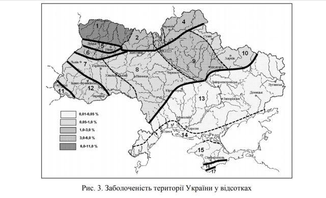 Карта боліт України
