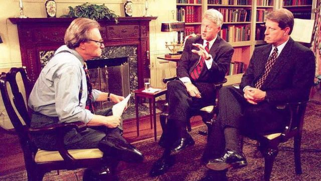 Larry King with Clinton
