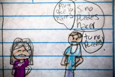 Los estremecedores dibujos de niños de entre 10 y 13 años que reflejan cómo les afecta la violencia de Guatemala BBC News Mundo