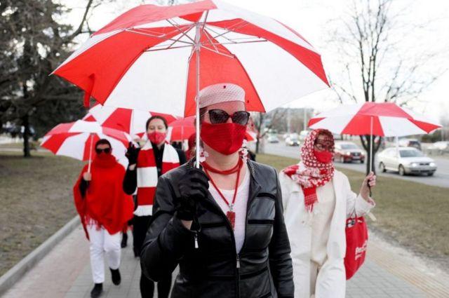 2021년 4월 6일 민스크 우산 시위