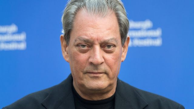 Close up of Paul Auster