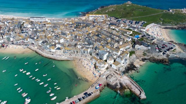 St. Ives-near the place where the official meeting was held.