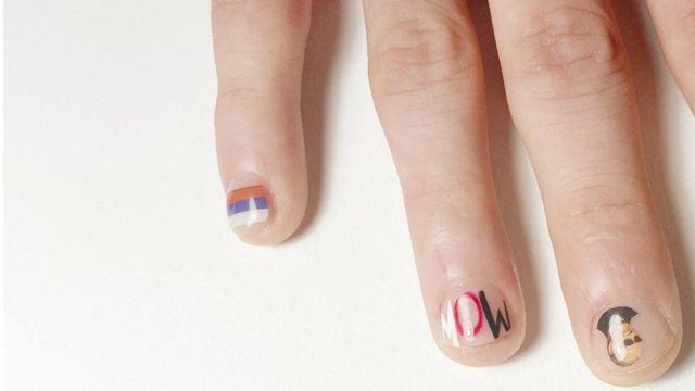 Male nail art