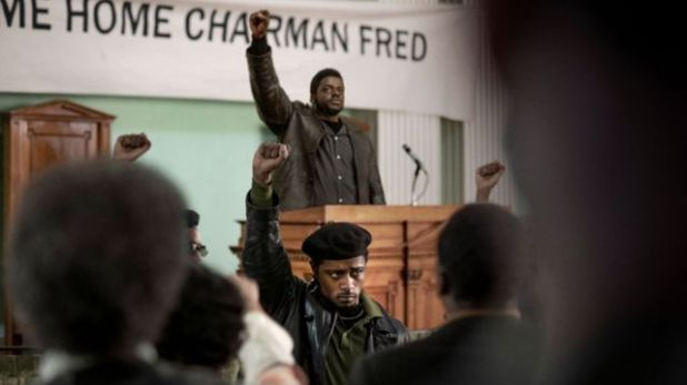 LaKeith Stanfield (foreground) and Daniel Kaluuya (back) in Judah and Christ in Black