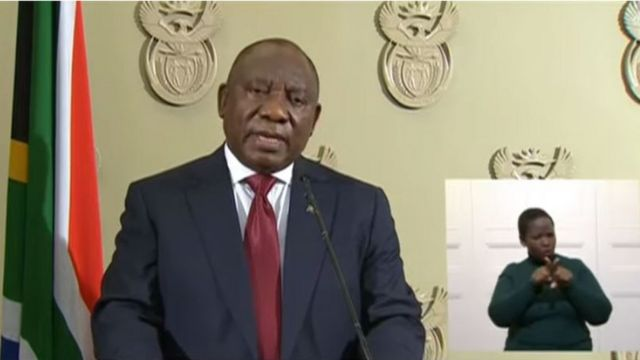 South Africa President Cyril Ramaphosa address di Nation 12 July, 202