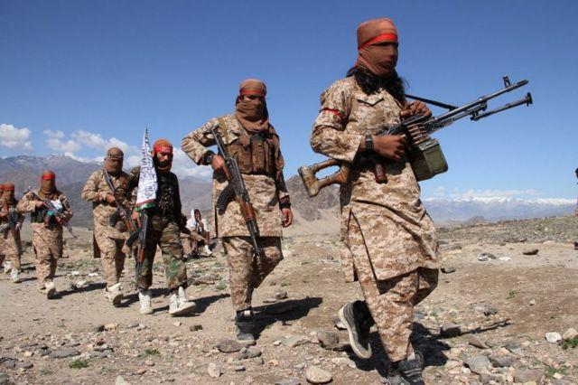 아프간의 탈레반 무장대원