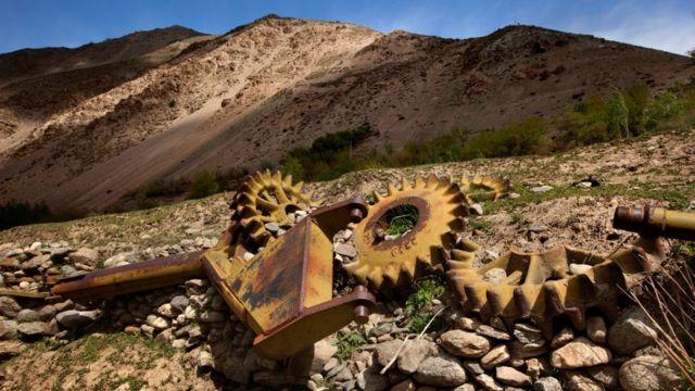 Russian tank debris in the Panjshir Valley