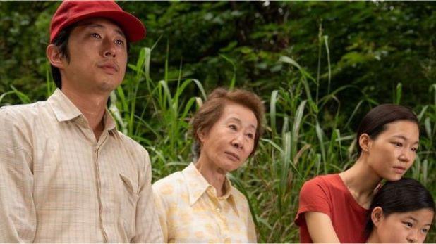 Steven Yeun, Youn Yuh-jung, Han Ye-ri and Noel Kate Cho at Minari