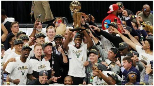 NBA Finals: Milwaukee Bucks beat Phoenix Suns to win first title for 50  years - BBC Sport
