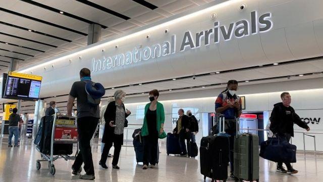 希思罗机场的乘客