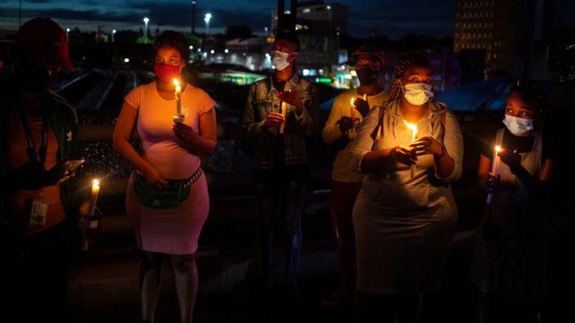 Uma homenagem às vítimas do coronavírus na África do Sul