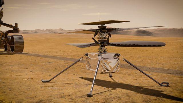 Ilustración del helicóptero que volará en Marte