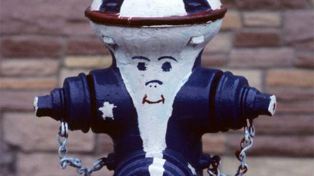 Fire hydrant in Roseto, Pennsylvania.