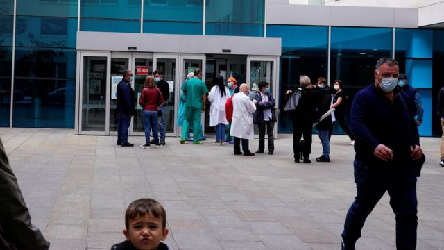 Ghali received treatment in a hospital in Spain for Covid-19.
