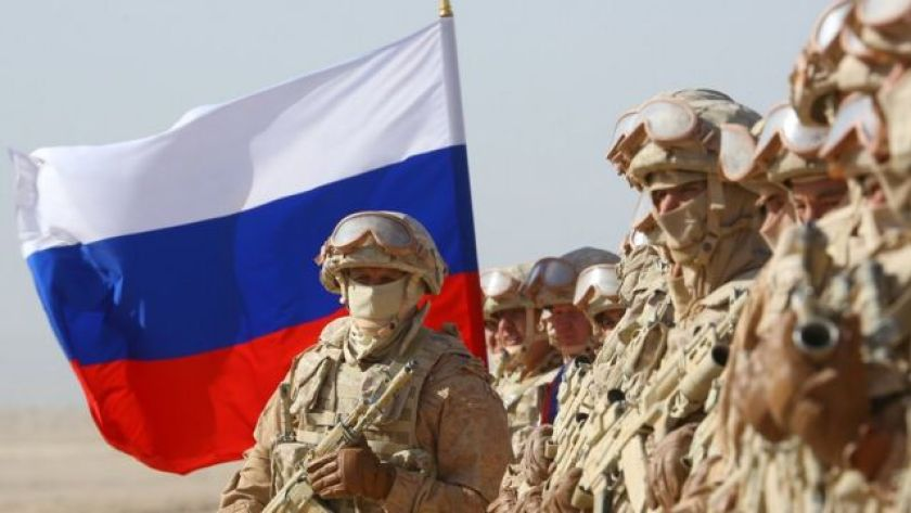 Russian military participates in military exercises at the Harb-Maidon training camp, near the Tajikistan-Afghanistan border, on August 10, 2021