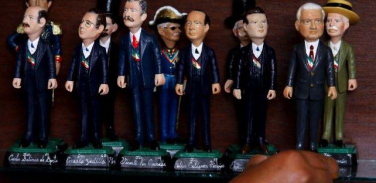 Figuras de expresidentes de M'exico