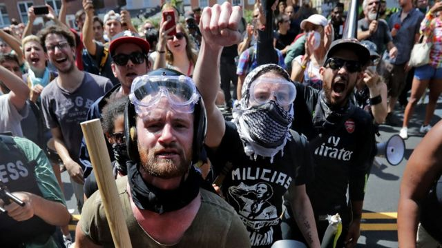 Protestas de miembros de Antifa