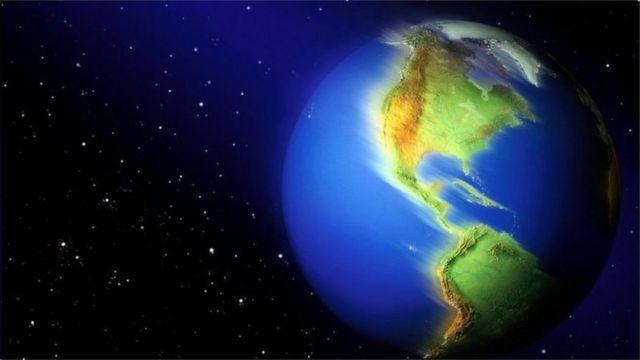 Ilustração mostra a Terra vista do espaço