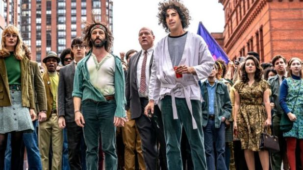 """Jeremy Strong and Sacha Baron Cohen """"Chicago 7 case"""""""