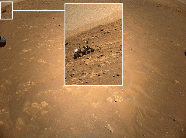 Rover viewed on Mars