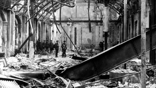 The General Post Office in Dublin was destroyed during the Easter Uprising in 1916.