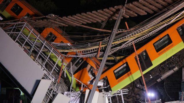 Tren colapsado.